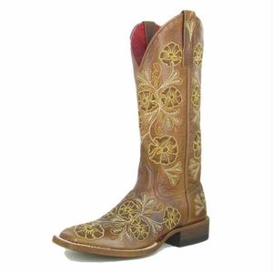 Macie Bean Cowboy Boots Floral Josephine Whiskey